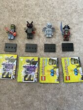 LEGO 4x Collectable Minifigures Series 14 Monster Fly Rocker Gargoyle & Pirate
