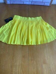 Nike Court Victory Women's Tennis Skirt - Yellow / White BV9231-731 Size Medium