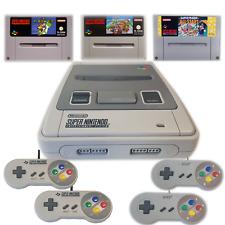 SNES Super Nintendo Konsole zur Auswahl Spiele wie Mario Kart, Super Mario