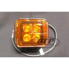 "3"" Amber x2  Off Road LED Light Lens Covers ATV RZR Bumper Fog Driving Maverick"