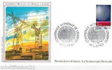 1986**ENVELOPPE**FDC 1°JOUR!!**CONFERENCE DE L'ENERGIE**TIMBRE Y/T 2445