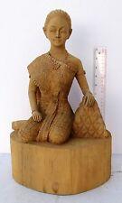 Hauntingly Realistic Golden Teak Wood Thai Beauty Somsak Meewan