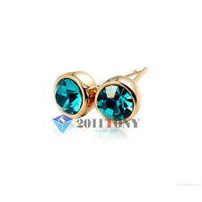 Promotion Gift 18K Rose Gold Plated Jewellery Use Austrian Crystal Stud Earrings