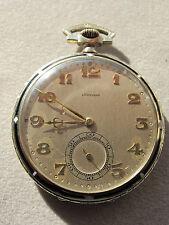 Antique Longines 18k White Gold 5 AJ 17 Jewels Open Face Pocket Watch