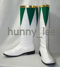 Green Ranger Cosplay Shoes Boots Custom-Made
