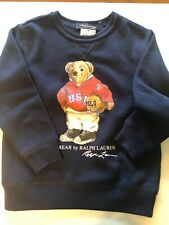 Polo Ralph Lauren Boy's size 6 Sweatshirt Bear Navy Basketball Crewneck Pullover