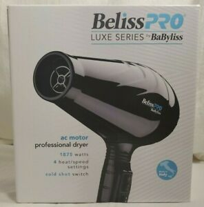 Babyliss BelissPRO Luxe Series Professional Dryer AC Motor Made Italy #BEL6350