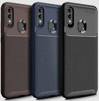 For Huawei Honor 8A New Black Brown Blue Shock Proof Carbon Fibre TPU Phone Case
