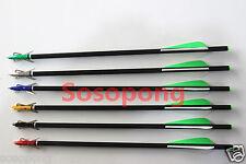 6Pcs Crossbow Arrows Bolts + 6pc Archery 100Grain Hunting Broadheads For Hunting