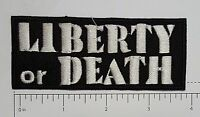 Liberty or Death Club Outlaw Biker Funny Motorcycle Iron On Small Patch