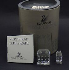 Swarovski Crystal City Houses Set 2 158981- Excellent condition