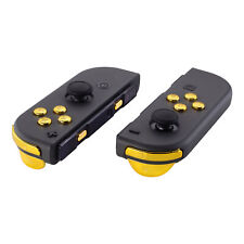 Chrome Gold Full Set Buttons With Tools Replacement For Nintendo Switch Joy-Con