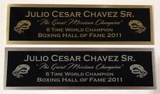 JULIO CESAR CHAVEZ NAMEPLATE FOR SIGNED TRUNKS GLOVE PHOTO DISPLAY CASE