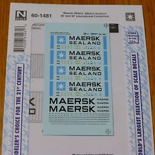 Microscale Decal N #60-1481 Maersk (MSKU, MMAU) Sealand 40'&50' International