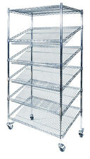 Bread Stand Shoe Stand Angled Wire Shelving Unit- 1800Hx900Wx450D 5 levels + Top