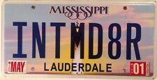 Vanity INTIMIDATOR license plate Intimidate Speed Agressive driver sports car