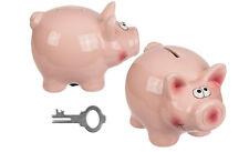 Sparschwein Rosa Schwein Spardose Gelddose mit Schlüssel