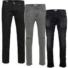 Only Sons LOOM WARP Jack Jones Herren Jeans TIM 298 Slim FIT Stretch Men Schwarz