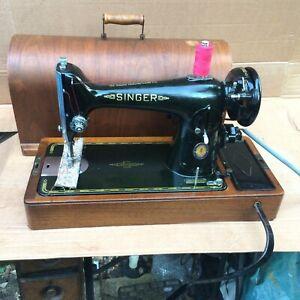 Centennial Vintage Singer 201, 201K4 Electric knee control sewing machine