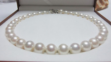 huge 13-16 mm south sea white round pearl necklace 18 inch 18K Wedding jewelry