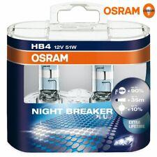 OSRAM - HB4 Halogen Night Breaker Plus Headlamp Bulbs 12v 51w Twin Pack 9006NBP