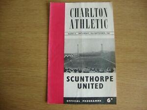 1962/3 Charlton Athletic v Scunthorpe United - Football League Division 2
