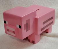 Minecraft Pink Pig Ceramic Piggy Bank Coin Bank