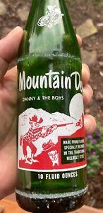 Vintage soda pop bottle MOUNTAIN DEW hillbilly Danny & the Boys