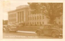 "Albany OR 1937 Plymouth 5=Window Coupe @ The County Courthouse~RPPC ""Hop Drying"""
