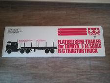 Tamiya Truck - LKW 1:14 RC Flachbett-Auflieger Anhänger - von Tamiya
