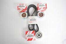 Genuine Toyota FJ Cruiser V6 4.0L 1GRFE 07-09 Drive Belt & Idler Pulley OEM Kit