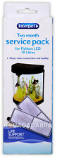 Interpet service kit pack poisson 19L boîte filtre media crystal clear water aquarium