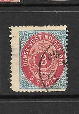 Danish West Indies 1873-02 3c Carmine/ Blue Fu Sg 14
