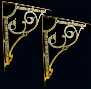 Solid Brass Corner/Shelf Wall Brackets Heavy Gauge
