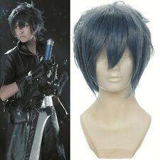 "16"" Layered Gray Noctis Lucis Caelum of Final Fantasy Versus Cosplay Wig"