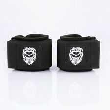 MISC FITNESS Black Weight Lifting Wrist Wraps Power Training Gym Workout Support
