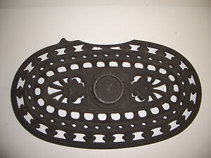 Vintage Cast Iron Pot Belly Stove Top Lid Cover Grill Vent Rustic Decor NPC7 ???