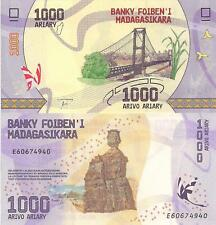 MADAGASCAR 1000 Ariary Banknote World Paper Money Currency Pick p-NEW 2017