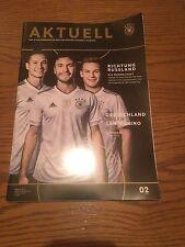 Stadion Magazin Länderspiel Deutschland - San Marino WM Qualifikation 2018