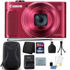 Canon PowerShot SX620 HS 20.2MP 25X Zoom Red Digital Camera 32GB Accessory Kit