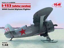 POLIKARPOV I-153 CHAIKA W/SKI (SOVIET & ILMAVOIMAT/FINNISH AF MARKINGS) 1/48 ICM
