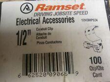 """Ramset (12HSMP034) Conduit Clip With Pin For 1/2"""" EMT (100pcs)"""