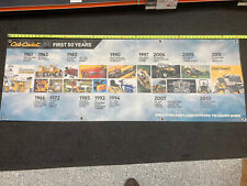 Cub Cadet 50th Anniversary Banner Sign. Vinyl Banner Showing First 50 Years
