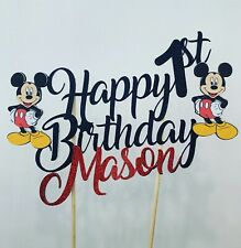Personalised Mickey Mouse Cake Topper