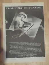 Tim Finn Big Canoe  1986 press advert Full page 28 x 39 cm poster