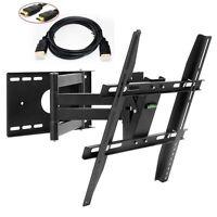 "TV Wall Mount Bracket Swivel Tilt LCD LED 22 28 32 37 40 42"" 46 48 50 HDMI Cable"