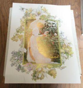 SANDRA KUCK Victorian Women Hidden Garden 11 x 14 Lithograph Print Picture GUC