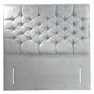 """Headboard Kensington Plush Velvet 50"""" Floor Standing Bed - All Sizes & Colours"""