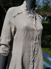 Linen Patternless Midi Shirt Dresses for Women
