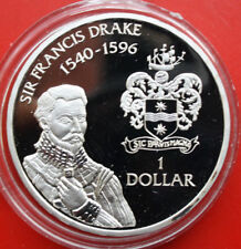 "Cayman Islands: 1 Dollar 1994 Silber, KM# 121, PP-Proof, #F1203 ""Drake"""
